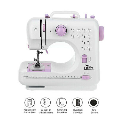 16 Stitches Electric Sewing Machine Double Speed Household Portable Sewing Kit