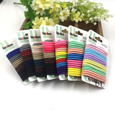 18 Pcs Women Girls Elastic Hair Band Ties Rope Ring Hairband Ponytail Holder