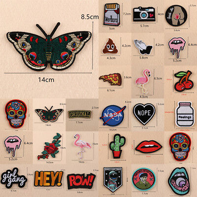 Embroidered Bag Clothes Applique Trim Sew Iron On Patches Badge Transfer Fabric