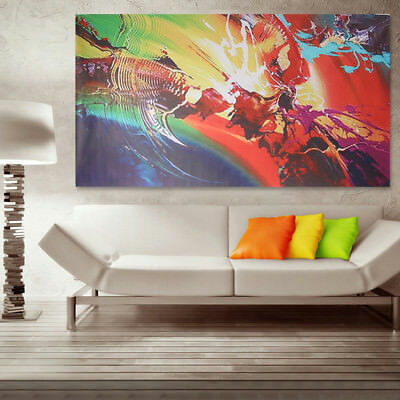 120x60cm Abstract Ripple Canvas Art Print Oil Painting Wall Picture Home Decor