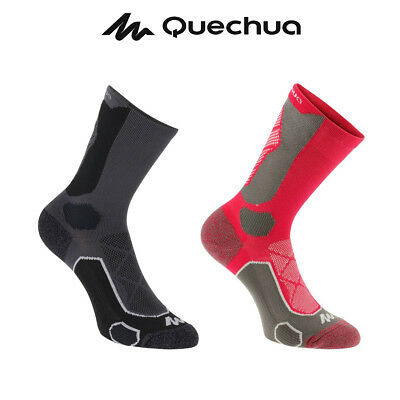 2X Quechua Hiking Socks Forclaz 500 High by Decathlon For Mountain Hiking