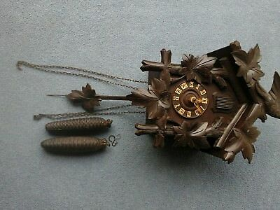 antique black forest cuckoo clock for repair