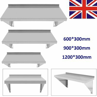 Commercial Catering Stainless Steel Shelves Kitchen Wall Shelf 900 - 1200mm
