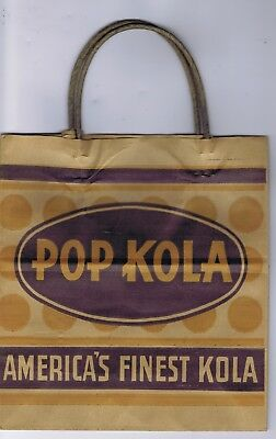 Pop Kola paper bag sack Kingsport Tennessee soda
