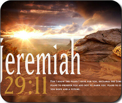 Jeremiah 29:11 Bible Verse Large Mousepad Mouse Pad Great Gift Idea