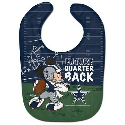 Dallas Cowboys Mickey Mouse Baby Bib Disney Nfl Officially Licensed
