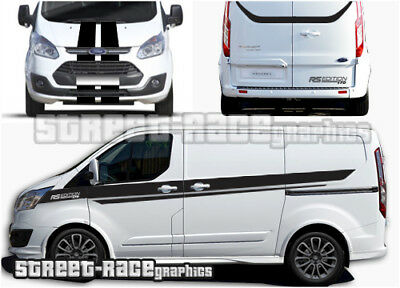 Ford Transit CUSTOM full 011A racing stripes graphics RS Edition M-Sport (UK)