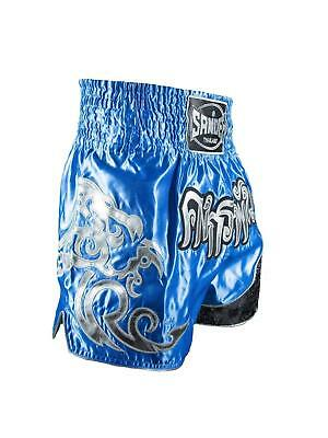 Sandee Unbreakable Royal Blue/Silver Muay Thai Boxing Shorts