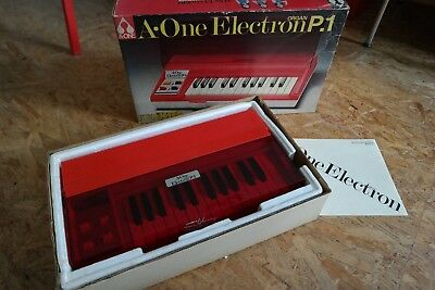 A-ONE  Electron P.1 +++ Vintage 70s Japan Electronic Toy Organ  +++ New in Box