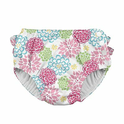i play Baby Girls' Snap Reusable Absorbent Swim Diaper White Zinnia sz 24 months