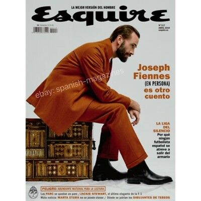 Joseph Fiennes Esquire Spain April 2018 Magazine Cover Editorial Not Ralph