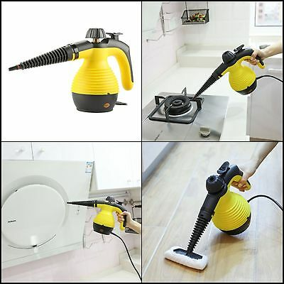 Handheld Pressurized Steam Window Cleaner Set Portable  Large Tank 10ft Powerful
