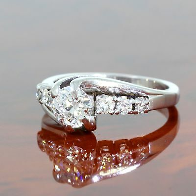 Wert 7.150,- Eleganter Solitär Ring M. 1,05 Ct Brillanten 750 / 18 Kt Gold Gr 53