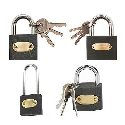 PADLOCK Heavy Duty Cast Iron SMALL LARGE Outdoor Safety Security Shackle Lock