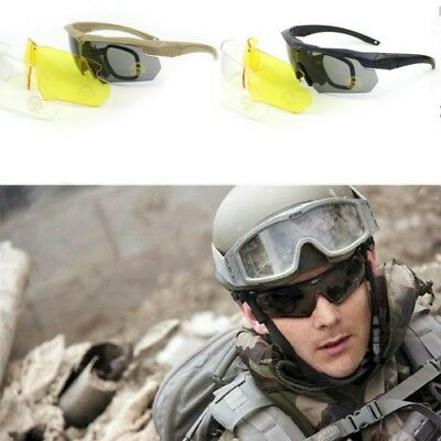 ESS Crossbow Outdoor Sports Army Bullet-proof goggles sunglasses eyewear 3 lens