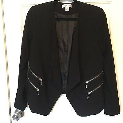 Motherhood Maternity Open Front Black Blazer Jacket Medium