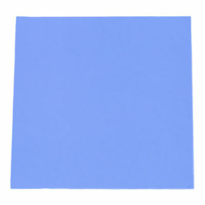 100mmx100mm x 0.5mm Blue GPU CPU Heatsink Cooling Thermal Conductive Silicon Pad