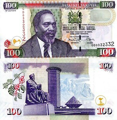 KENYA 100 shillings Banknote World Paper Money UNC Currency Pick p48 2010 Bill