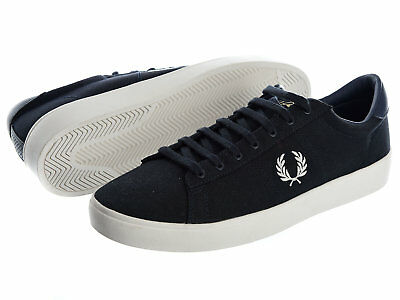 Fred Perry Mens Trainer - Spencer Canvas - B8285 - Navy
