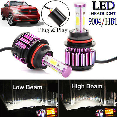 1855W 278250LM 9004 HB1 Car LED Headlight Kit Hi//Low Beam White 6000K High Power