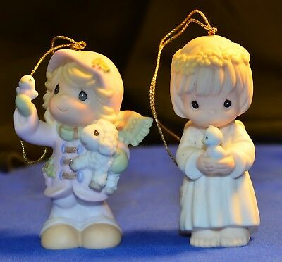 """Lot of 2 Precious Moments Ornaments """"The Future"""" 730076  """"Your Wishes"""" 587818"""