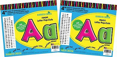 """Barker Creek 4"""" Letter Pop-Outs 2 pack - Neon BC3628"""