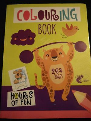 A4 264 PAGE JUMBO CHILDREN'S COLOURING BOOKS BOOK FUN PICTURES LEARNING cheapest