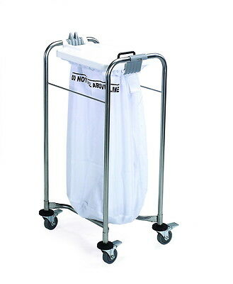 Medical Heavy Duty Professional Laundry Cart trolley with white Lid Bag Included