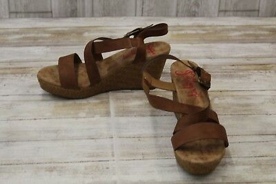 bde4f1205b675 JELLY POP TAHOE Wedge Sandals-Women's size 11 M Brown