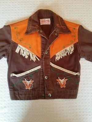 1950's Vintage Youth Western Jacket - Size 12 Boys