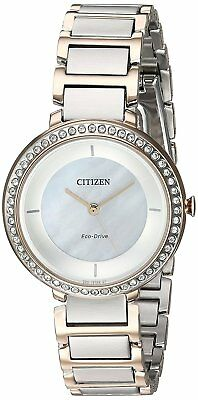 Citizen Eco-Drive Women's EM0483-89D Silhouette Crystal Accents 30mm Watch