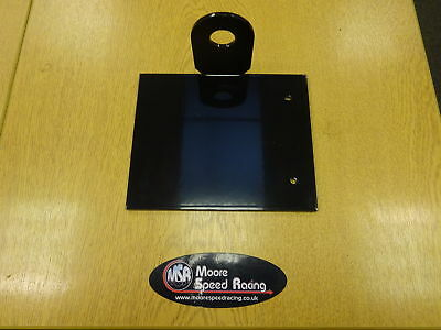 Motorcycle Universal Side Mount Number Plate Holder Black With Leds Tail Tidy