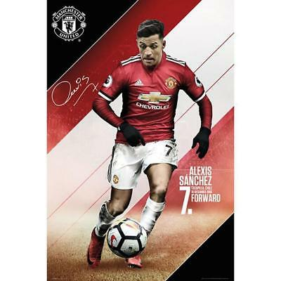 Manchester United FC Alexis Sánchez Licensed Maxi Poster Season 17/18 Brand New