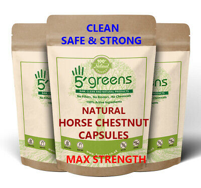 Horse Chestnut Extract Capsules 400mg ( 80mg Aescin ) Strongest on Ebay  Natural