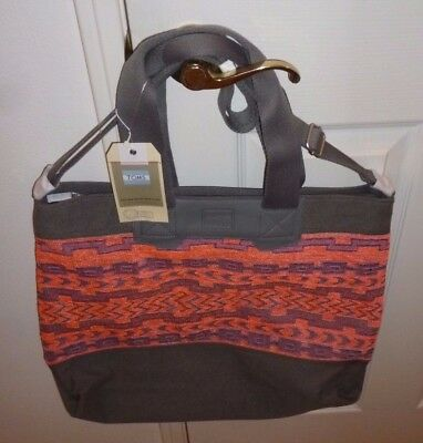 Toms Naturalist Ikat Mix Tote Magenta NEW WITH TAGS