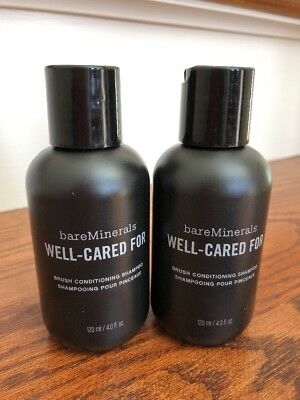 TWO bareMinerals well-cared for brush conditioning shampoo 120ml each