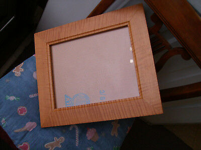 Two (2) Antique/Vintage Tiger Maple Frames w/Glass 11 3/8x13 3/8