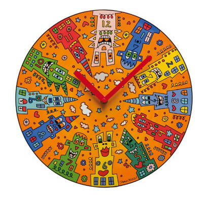 Goebel James Rizzi Uhr City Sunset Wanduhr aus Glas Neuheit 2017 Skyline Ø 30,5