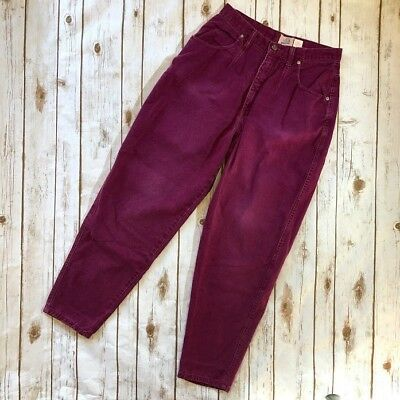 Vintage 90s Purple High Waist Mom Jeans Tapered Leg Women's Size 12 Sasson