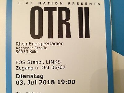 1x Ticket Jay-z & Beyonce OTR II Tour // FOS -Front Of Stage Links