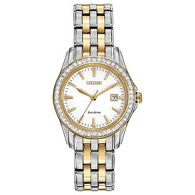 Citizen Eco-Drive Women's EW1908-59A Crystal Accents Two-Tone 28mm Watch