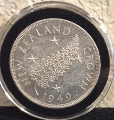 1949 New Zealand Crown George VI Proposed Royal Visit 50% Silver in Air-Tite