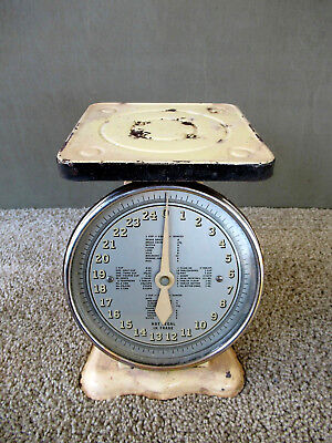 Vtg Scale Household Kitchen FOR THE WORLDS PEOPLE Measure/Quantity Guide 25 Lb