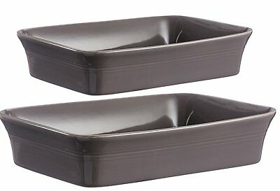 Set Of 2 Mason Cash Stoneware Rectangular Baker Dishes Lasagne Oven Baking Dish