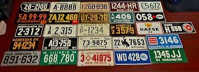 Vintage Lot of 1954 Cereal Box Mini License Plates.