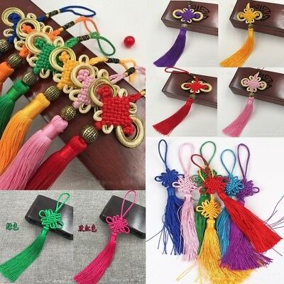 Chinese New Year Satin Knot Tassel Feng Shui Lucky Charm Hanging Decor Lot