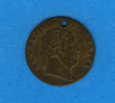 1768  IN MEMORY OF GEORGE III BRASS GAMING TOKEN. 'In memory of the good old day