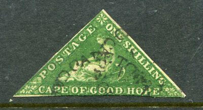 Cape of Good Hope  COGH  #6  Sound Used  Yellow Green 3 margins  (#5)
