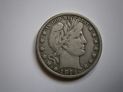 1914 S Barber Half Dollar F/VF Condition Great for a Type Set
