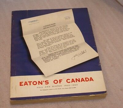 1952-53 Eaton`s Fall&Winter Catalogue Clothes, Toys, Watches Mid-Century&More